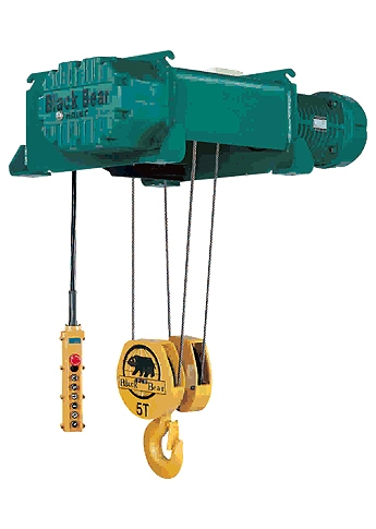 Foot Mounted Electric Rope Hoist with DC Brake System | FU