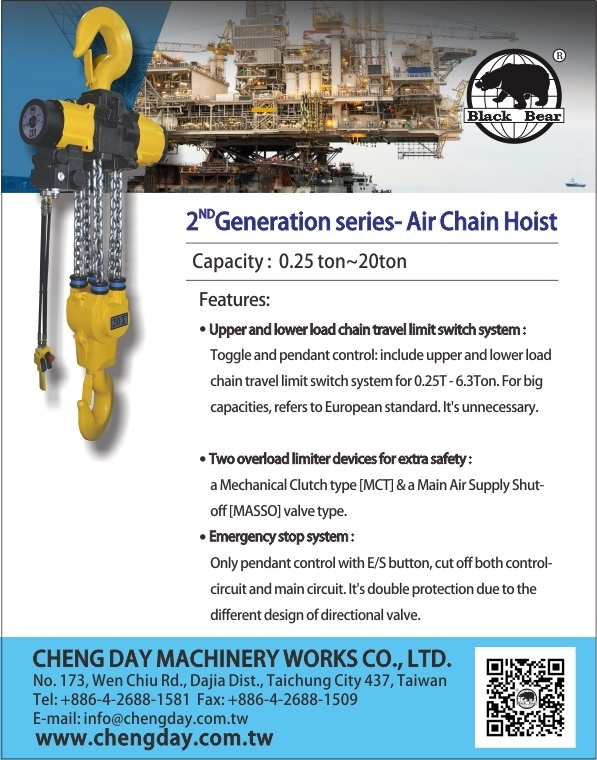 2ND Generation series- Air Chain Hoist