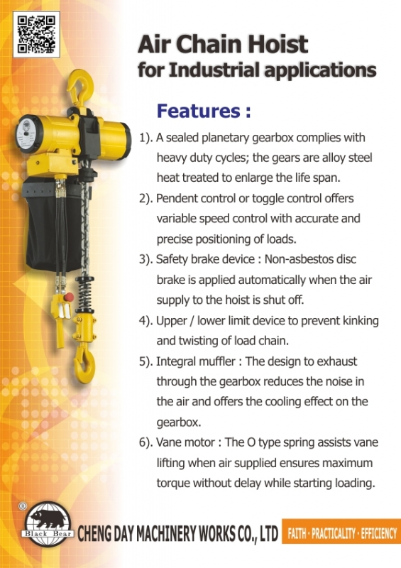 Product Report:Air Chain Hoist for Industrial Applications