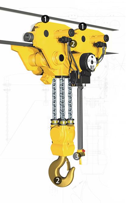 YSA-1000 Pneumatic Air Chain Hoist, Air Hoist