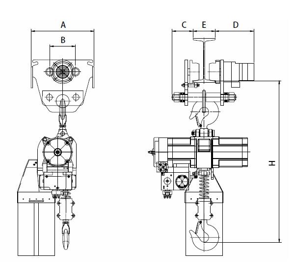 YSA-320~YSA-630 series Air Chain Hoist, Pneumatic Hoist