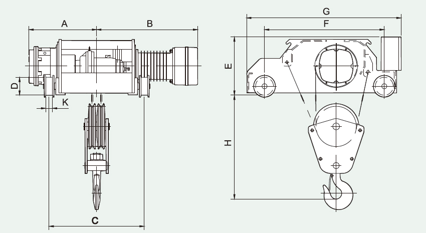 FP/FK/FG/FB Electric Wire Rope Hoist
