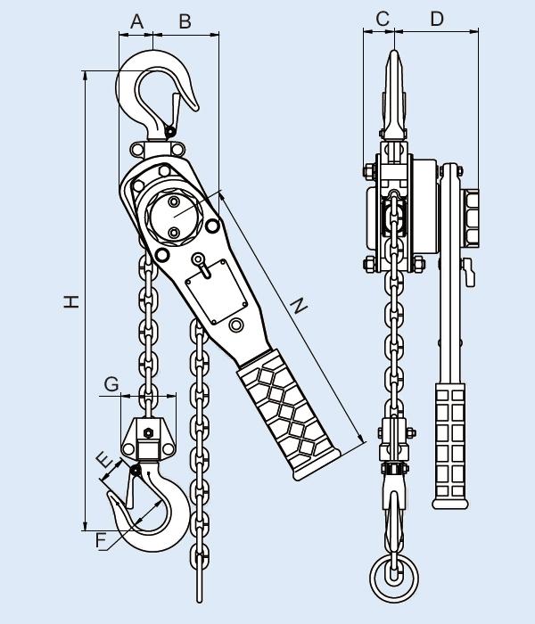 YL-030 Lever Hoist, Lever Chain Hoist