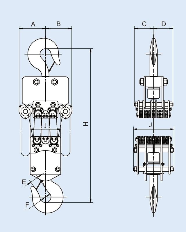 YB-3000手拉链条吊车