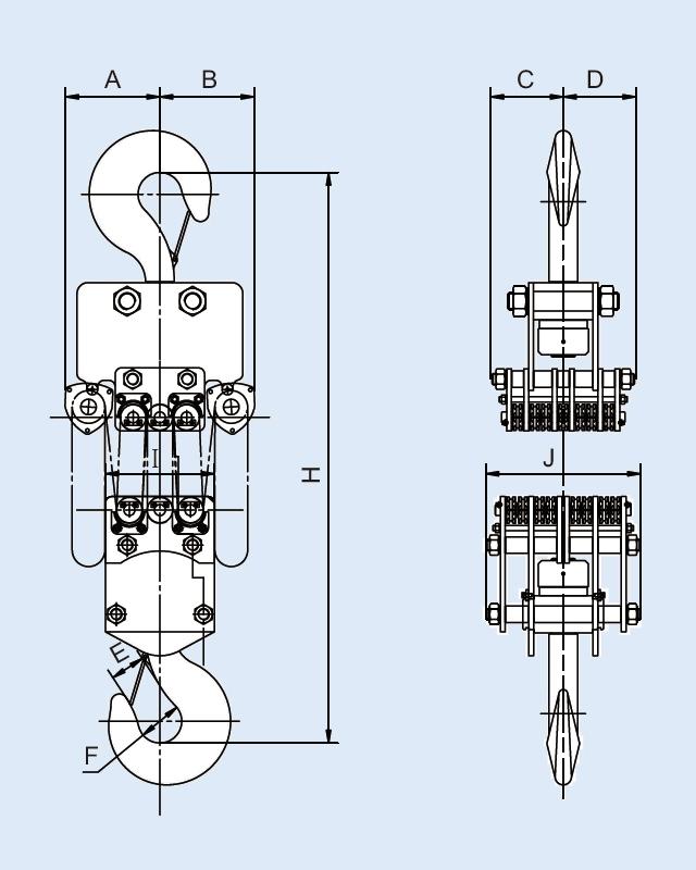 YB-4000 手拉链条吊车
