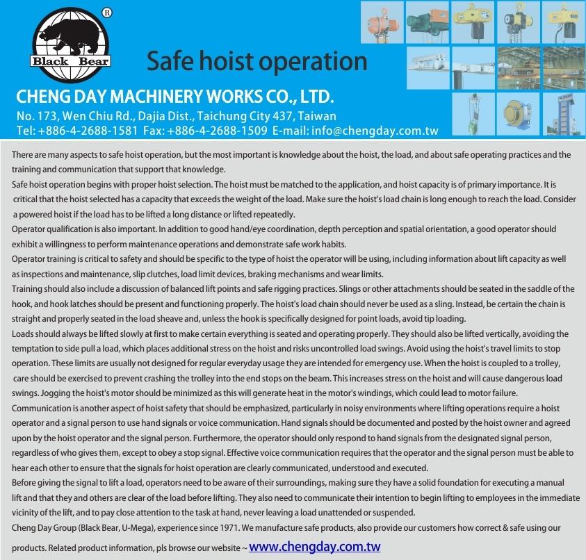 Safe Hoist Operation